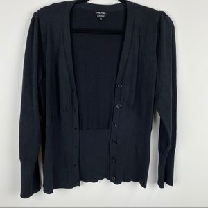 Maurices Silk Blend Button Front Cardigan Black